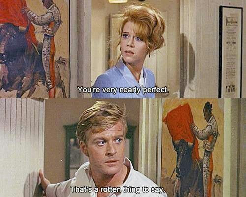 barefoot in the park, robert redford, jane fonda, film quote